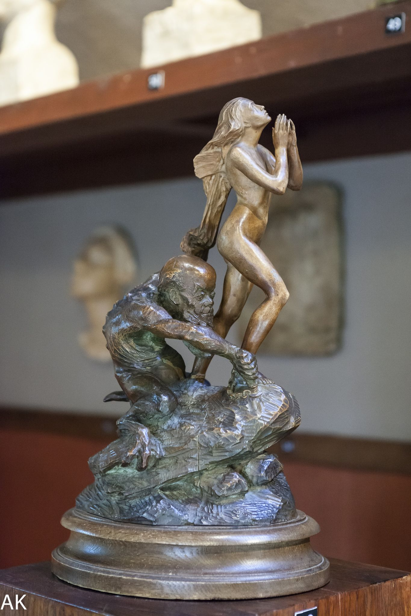 Ajanjumalan vanki (Vaan päästä meidät pahasta) 1897  Sculpture by Emil Wikström / Emil Wikströmin veistos, Museo Visavuori