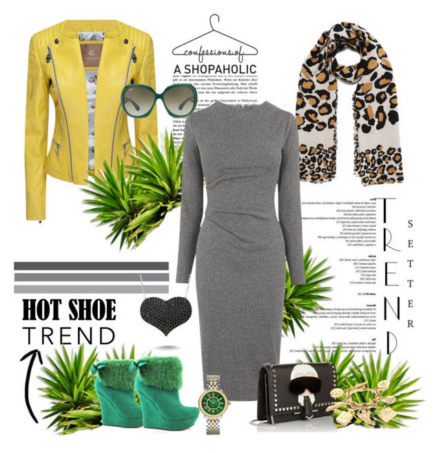 """""""the dr d.banner chic{k}"""" by g-vah-styles ❤ liked on Polyvore featuring Marc by Marc Jacobs, Ray-Ban, Whistles, Amorium, Fendi, Nicole, Michele, women's clothing, women and female"""