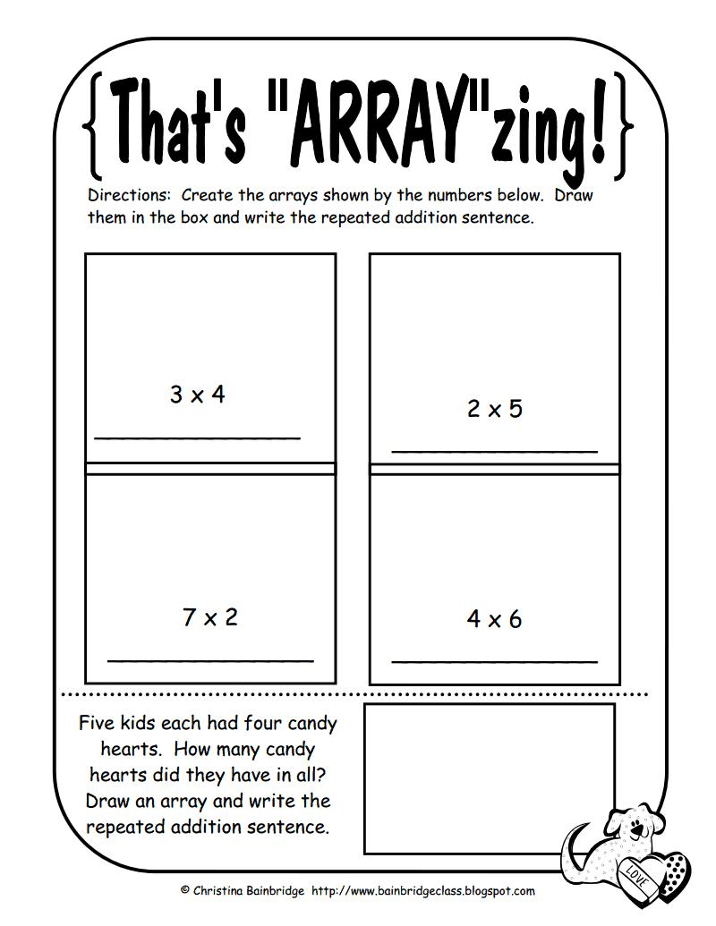 array worksheet math math lessons math school math classroom. Black Bedroom Furniture Sets. Home Design Ideas