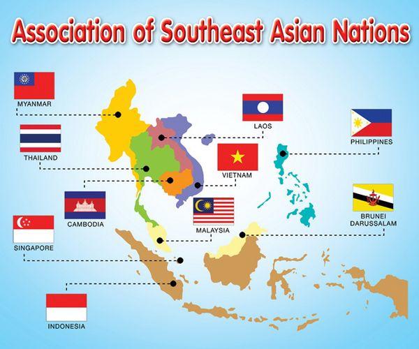 อาเซ ยน 10 ประเทศ Thailand Asian Studies Asian Flags
