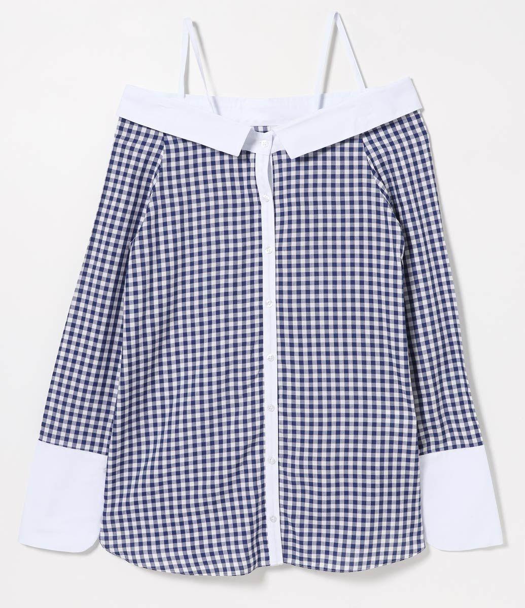 421f722d9 Camisa feminina Manga longa Xadrez Ombro a Ombro Com alcinhas Marca:  A-Collection Tecido: viscose Modelo veste tamanho: P Medidas da modelo:  Altura: 1.69 ...
