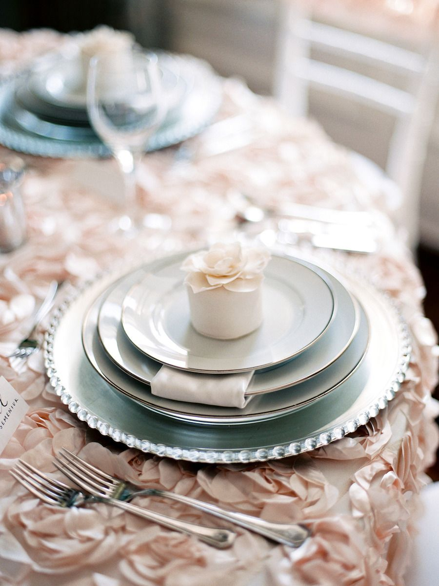 Wedding table settings up close/ favors on plate. & Edmonton Photo Shoot at The Fairmont Hotel Macdonald from High ...