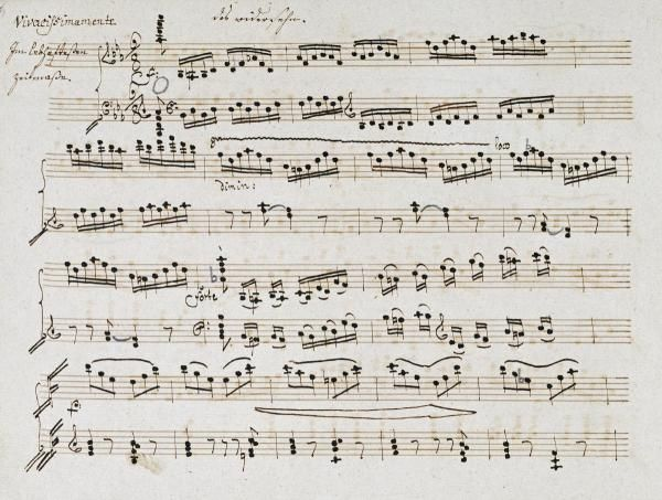 Ludwig Van Beethoven - Manuscript of The Second and Third Movements, Piano Sonata In E Flat - art prints and posters