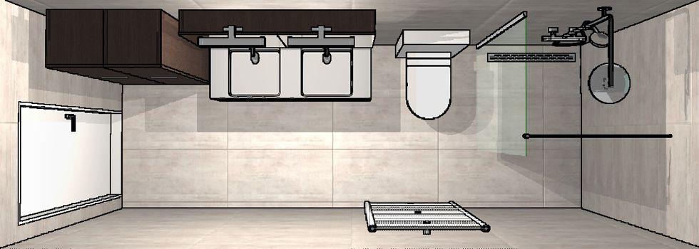 3d ontwerp kleine badkamer 3d ontwerpen badkamers pinterest lange smalle badkamer smalle - Gemeubleerde salle de bains ontwerp ...