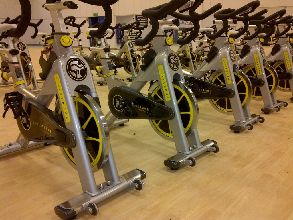Livestrong Spin Bikes In The Spinning Room At Xercise4less Biking Workout Bike Spin Bikes