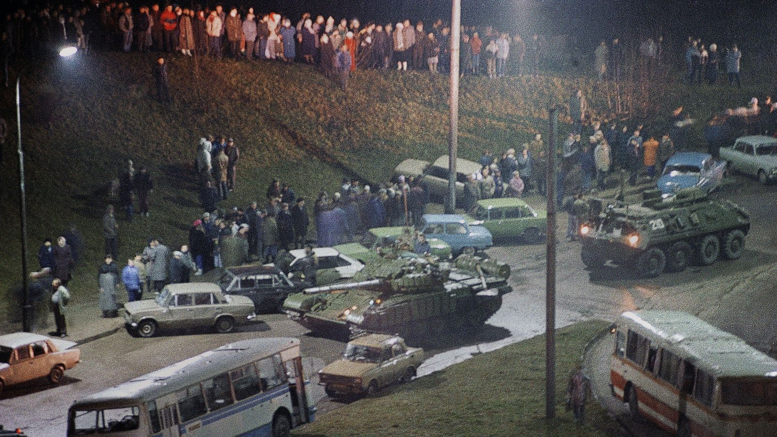 On the night of January 13, stormed the television station in Vilnius