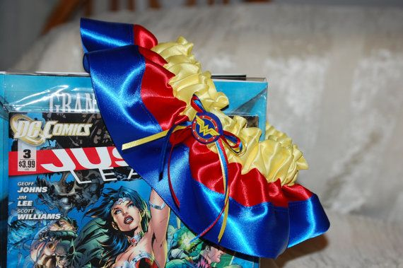 Custom Wonder Woman Themed Garter Great for by UniquelyYoursBridal,