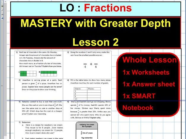 fractions mastery with greater depth sats ks2 year 5 6 observation ofstead whole. Black Bedroom Furniture Sets. Home Design Ideas