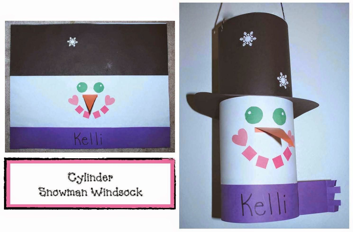 Classroom Freebies: Cylinder Snowman Windsock Craftivity