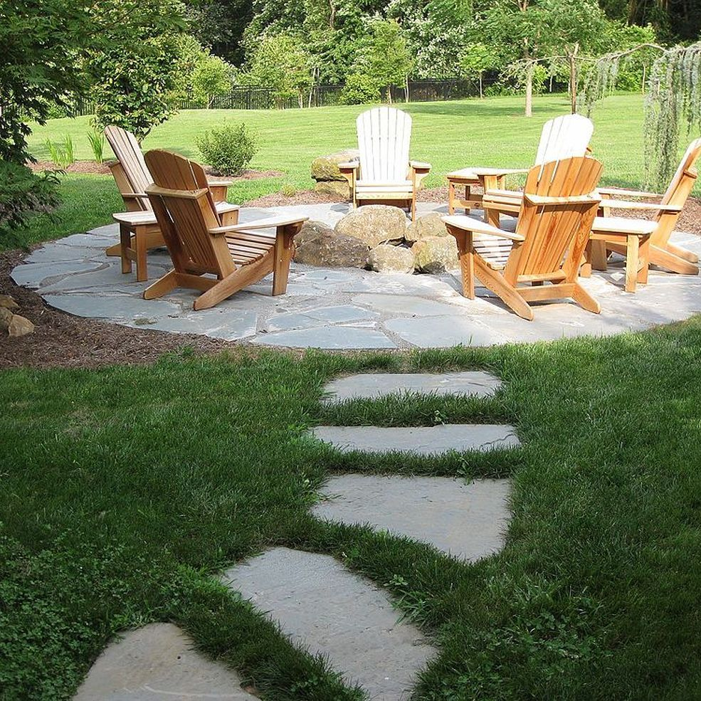 Photo of Natural Flagstone Patio & Fire Pit