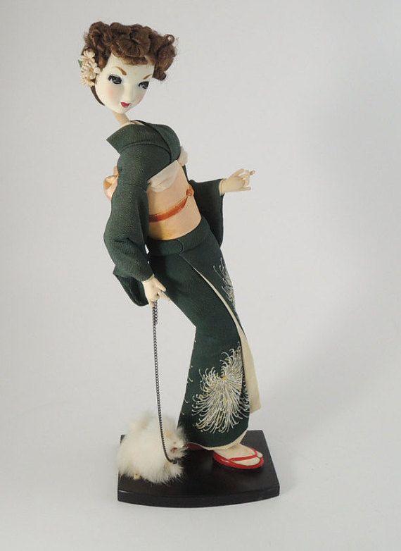 60's Japanese Vintage/Retro Doll Kimono doll by NostalgicKingyo