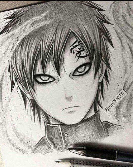 My Drawing With Images Naruto Sketch Naruto Gaara Naruto