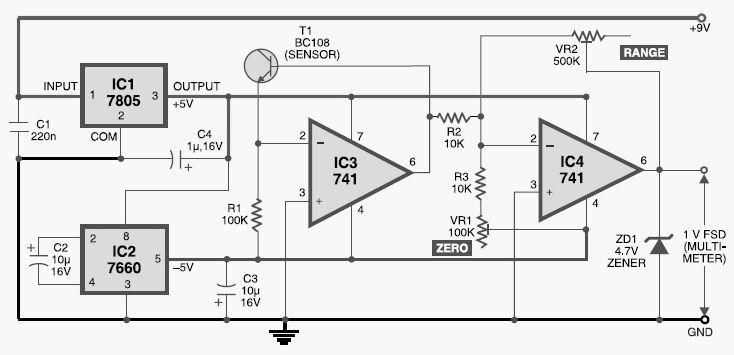 digital thermometer diagram electrical electronics concepts rh pinterest com digital clinical thermometer circuit diagram digital thermometer schematic diagram