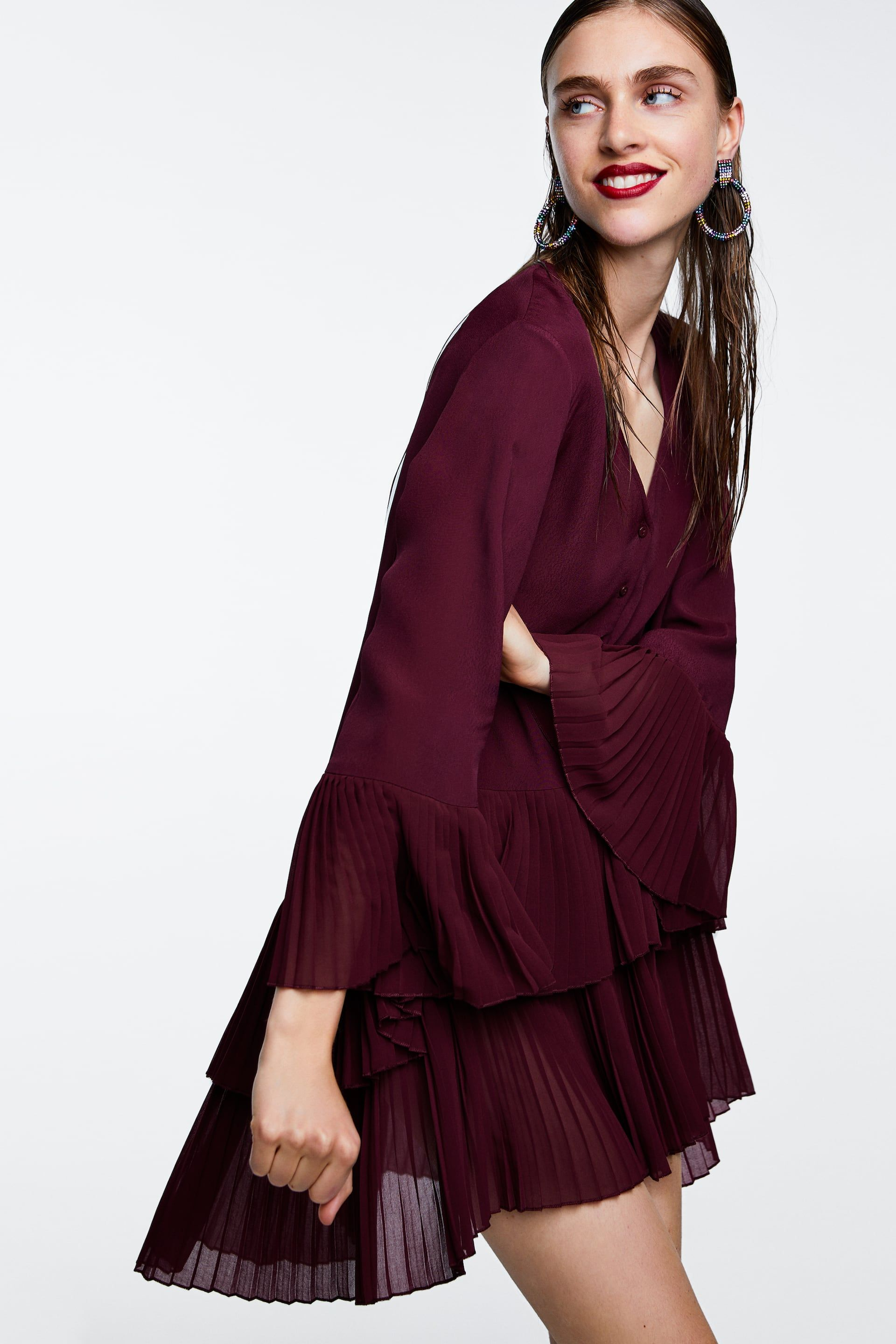6e51e559 Image 4 of CONTRASTING PLEATED BLOUSE from Zara | for my closet ...