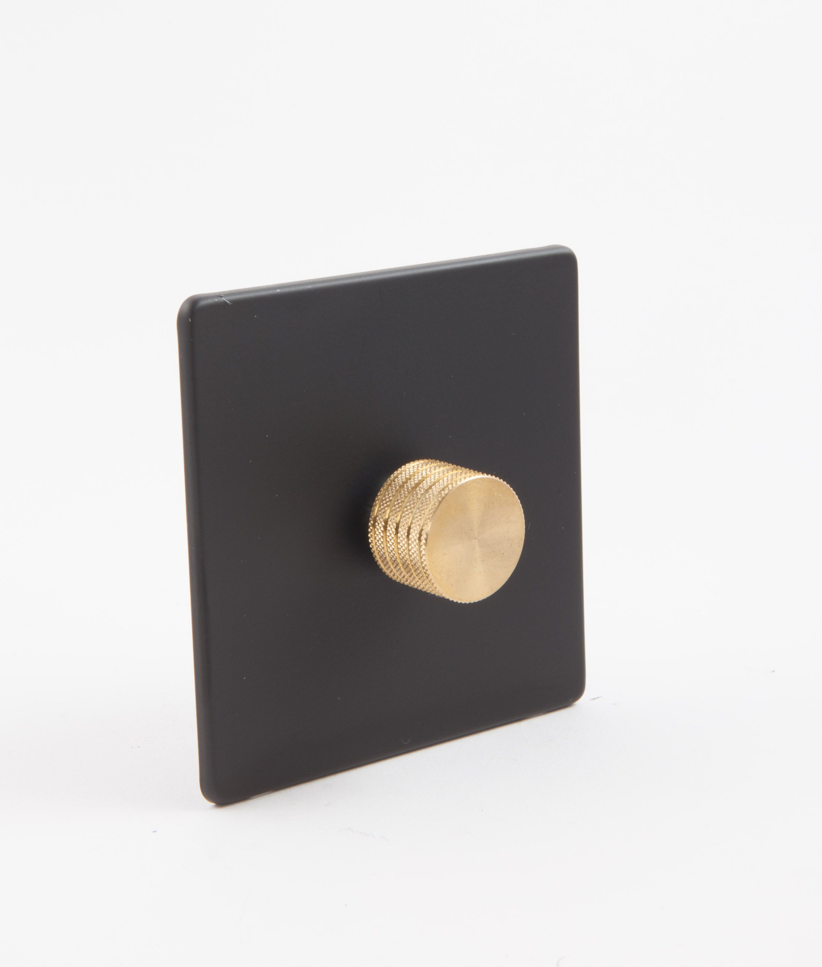 Dimmer Switch Single Black Gold