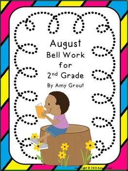 Photo of August Bell Work for 2nd Grade