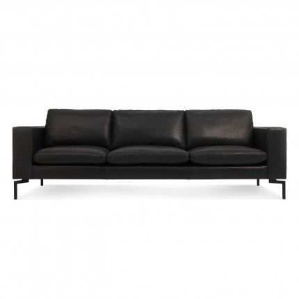 The New Standard 92 Leather Sofa Toffee Leather Black Modern