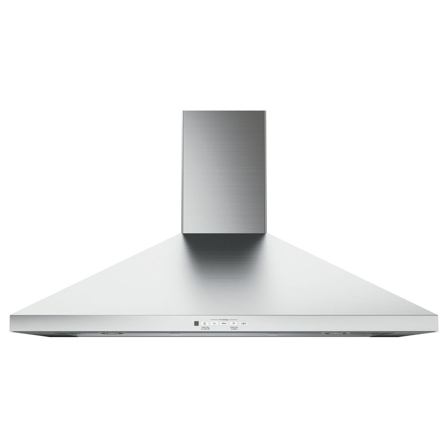 Ge Convertible Wall Mounted Range Hood Stainless Steel Common 36 In Actual 36 In Stainless Range Hood Wall Mount Range Hood Range Hood