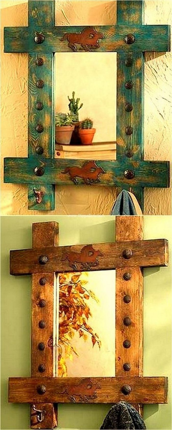 WOOD PALLET DECORATED WALL SHELVES IDEAS 2018 | Pallet shelving ...