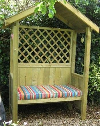 stunning garden seats we currenlty keep the bbq under here but should utilise it more for with arbour seats