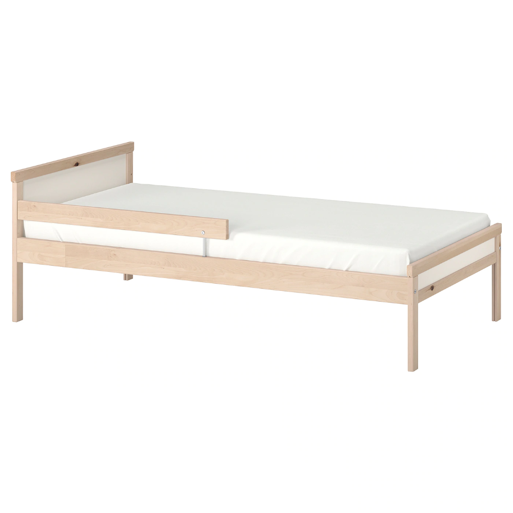 Sniglar Bed Frame With Slatted Bed Base Beech 27 1 2x63 Bed