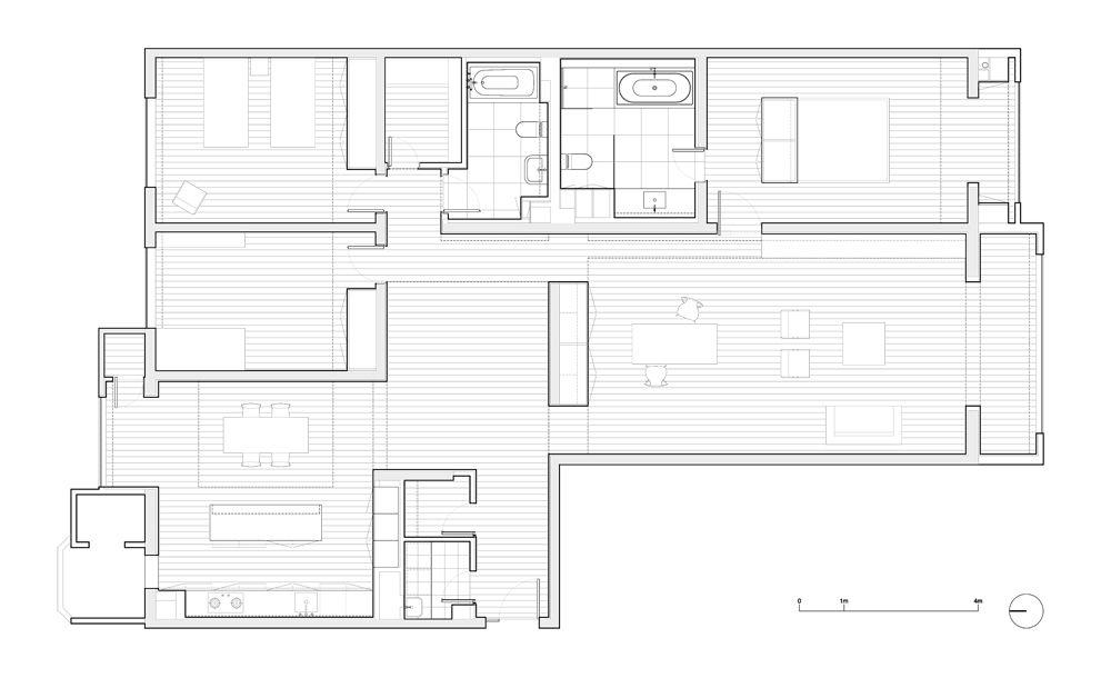 Interior Apartment 3E Vector Architects Architecture Housing