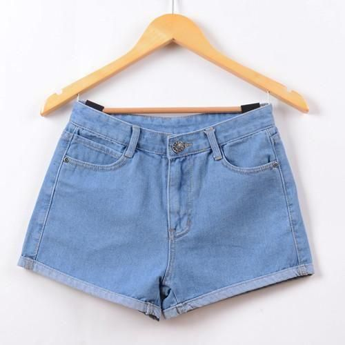 94814e566c90 GenZ New High Waist Stretch Denim Women s Jeans Shorts en 2019 ...