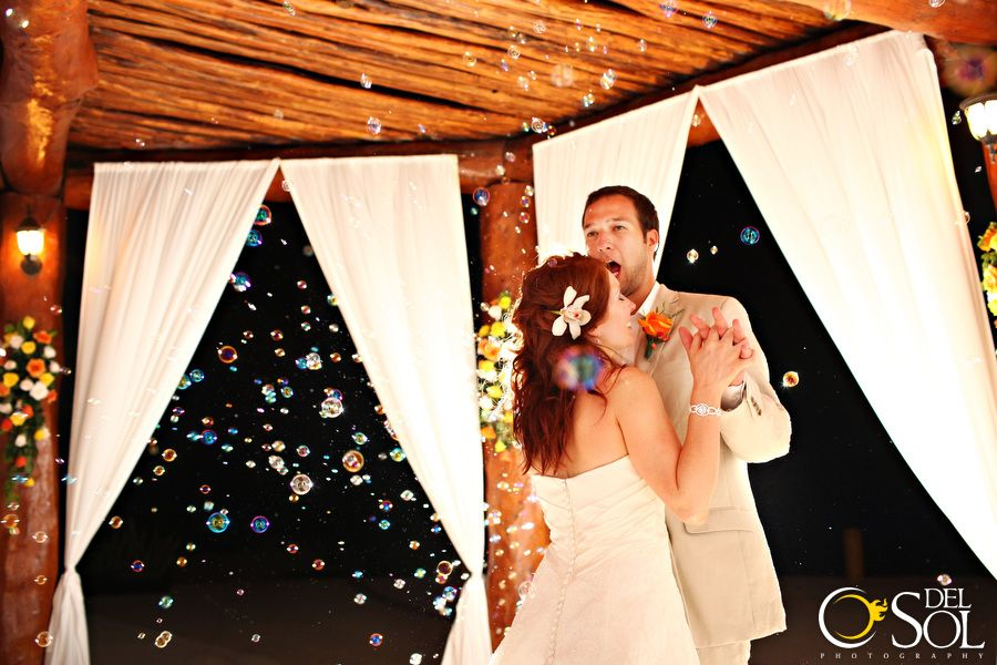 Under The Gazebo At Secrets Maroma Hotel Wedding Dance For Newlyweds Their Reception In Mexican Caribbean