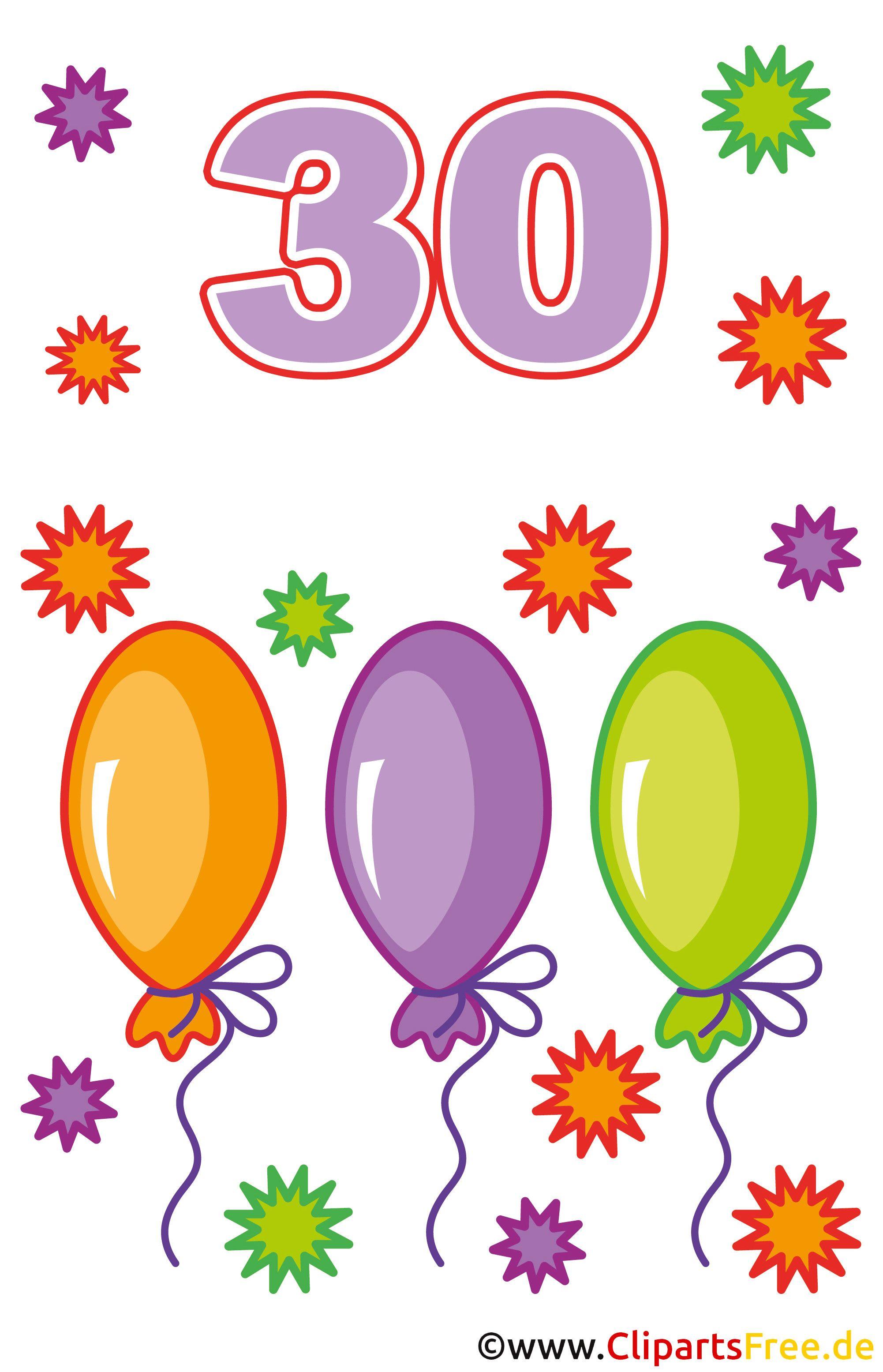 30 Geburtstag Bilder Clipart 1237 Die 20 Besten Ideen Für Geburtstagsbilder Zum Ausdrucken Gratis Free Clip Art Clip Art Birthday Invitations