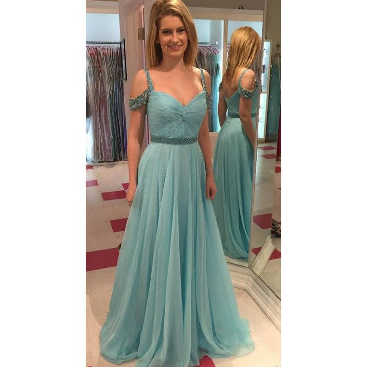 Vintage Women Simple Chiffon Backless Cheap Mermaid: Long Evening Prom Dress Great Light Blue Prom Dresses With