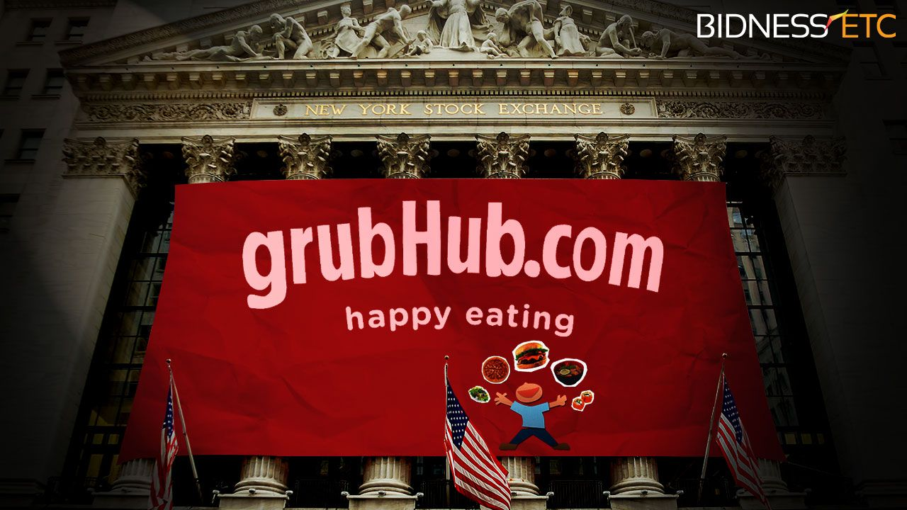 Shares of GrubHub, the popular online fooddelivery