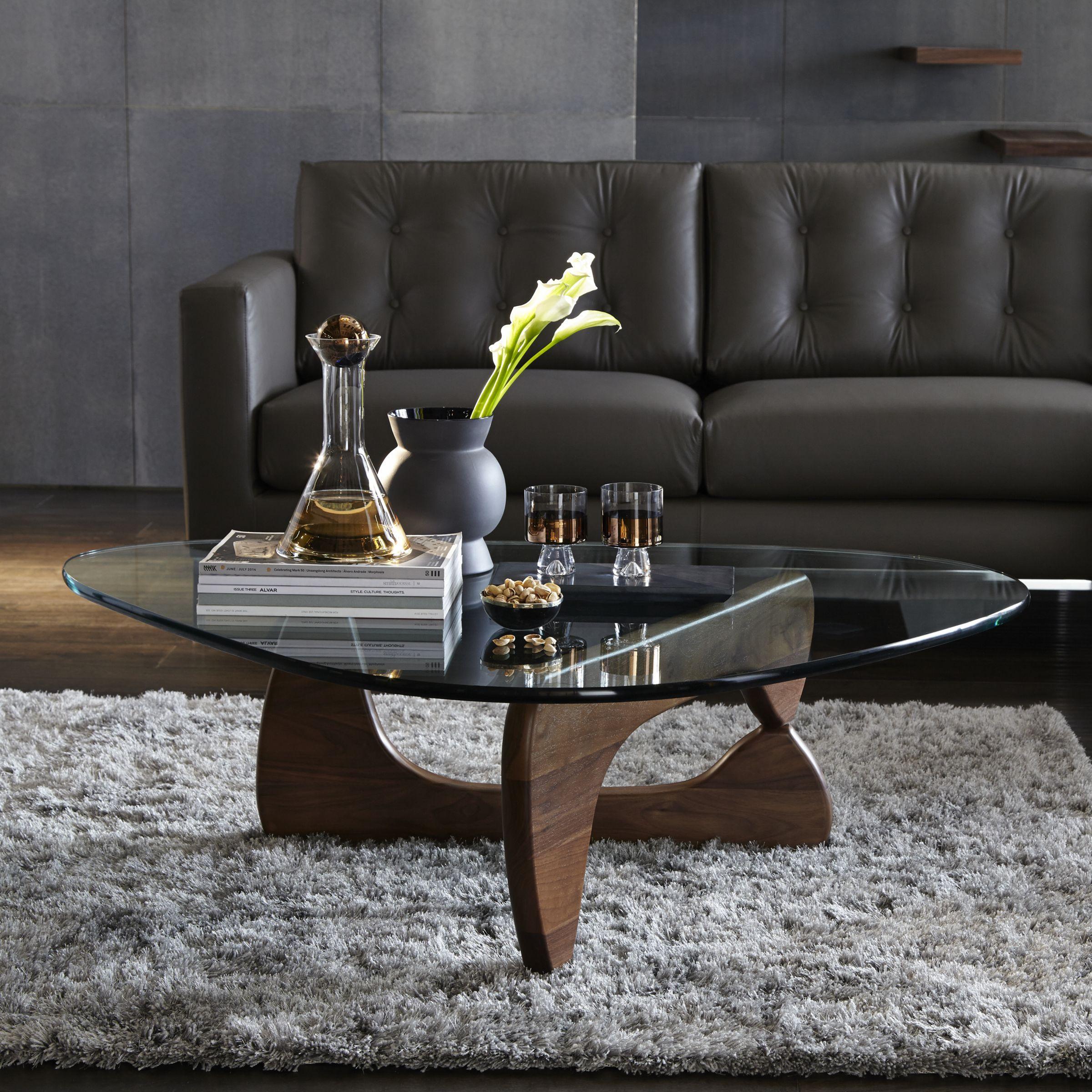 Vitra Noguchi Coffee Table Walnut In 2020 Noguchi Coffee Table