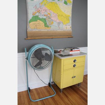 classic powder-coated industrial fan . . . would love to see this in my space
