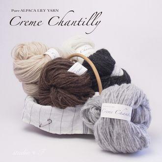 アルパカリリヤーン - Hank / 2 'Creme Chantilly claims シャンティーイ 190 g fs3gm