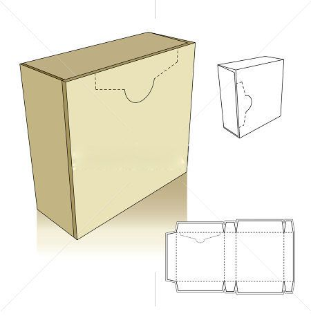 Box templates box bags envelope silhouettes vectors for Card box template generator