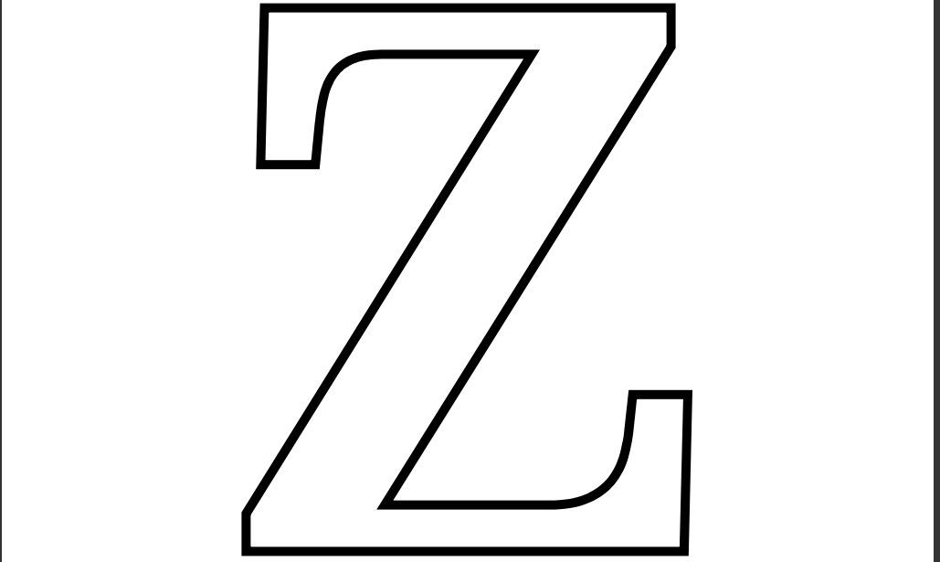 Imprimir Letra Z Para Recortar Colorear  Moldes De Letras