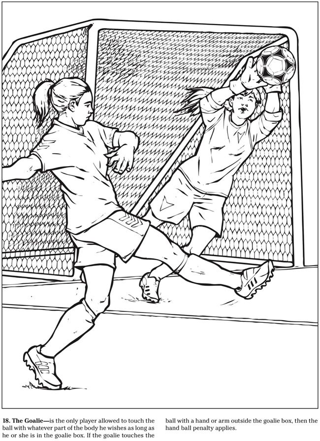 Welcome to Dover Publications The Soccer Coloring Book | coloring ...