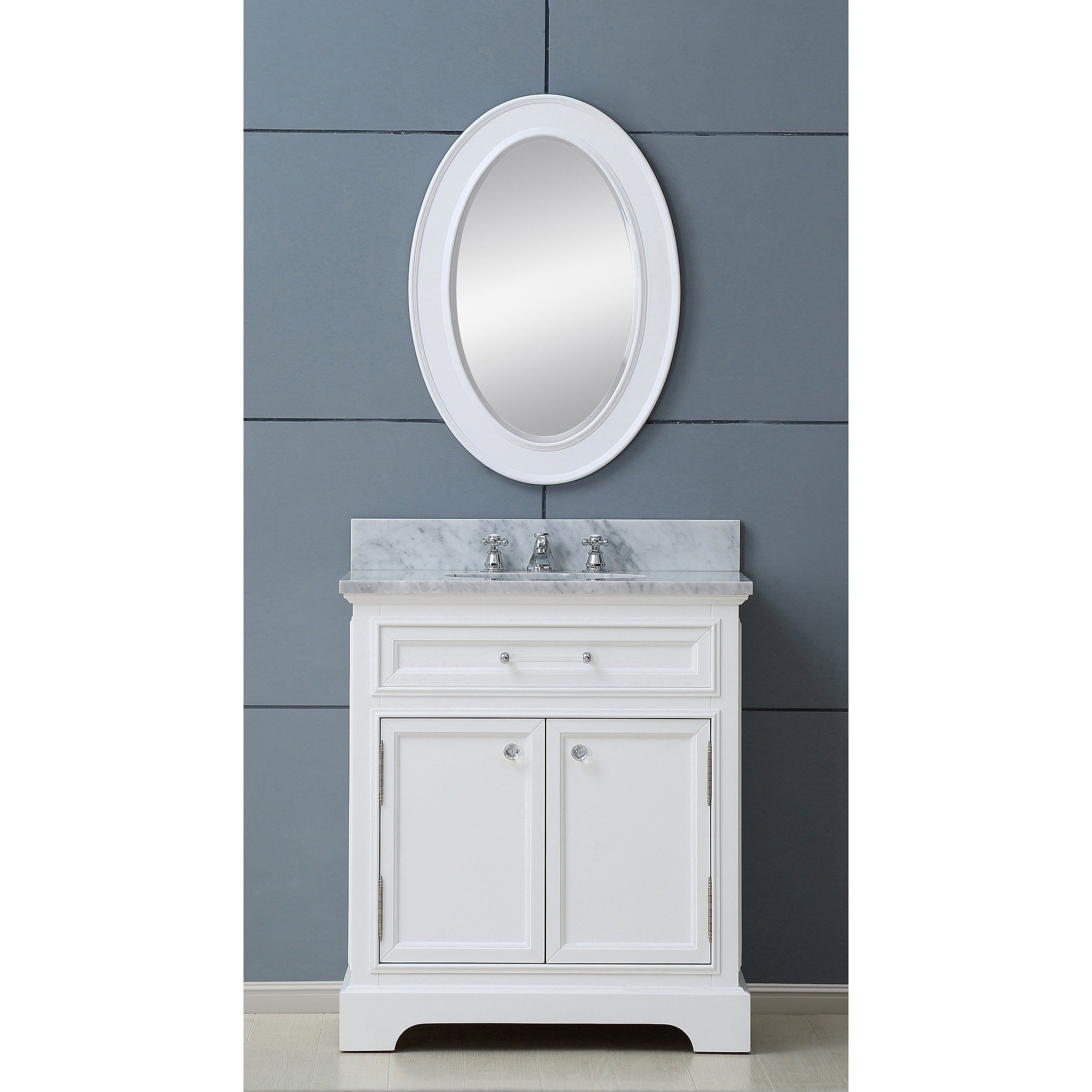 Water Creation Derby 30-inch Solid White Single Sink ...