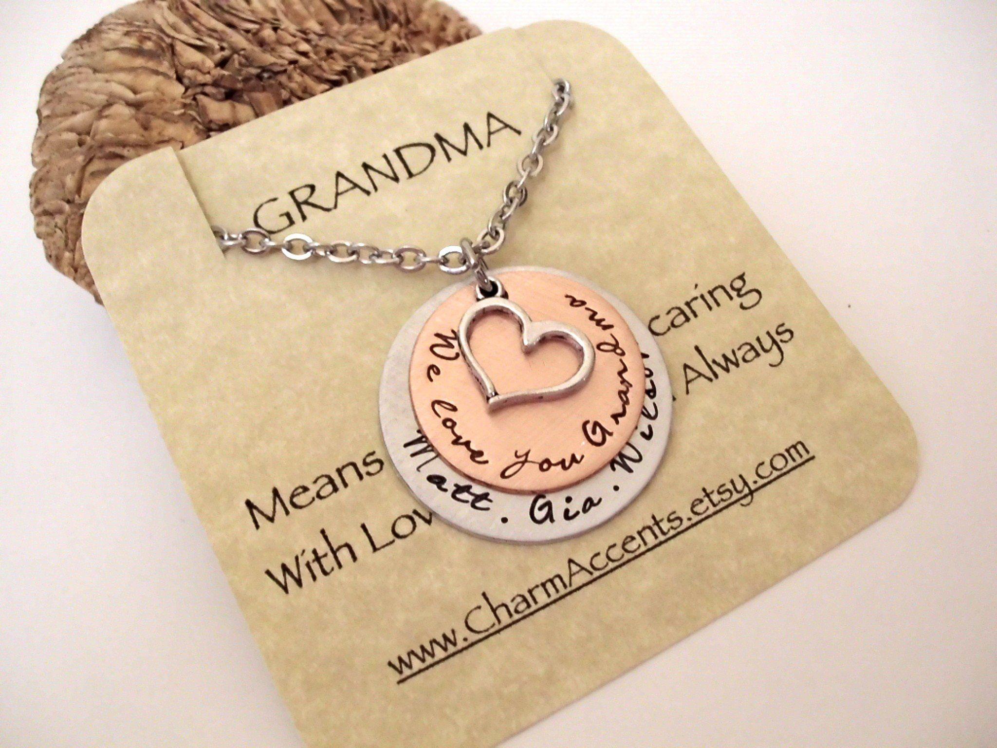 Grandma Gift Grandma Necklace Nana Jewelry Personalized Gift