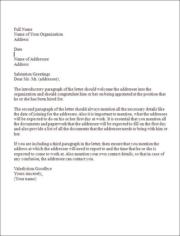 business letter format sample template mrs hendersona class - Formal Report Format Sample
