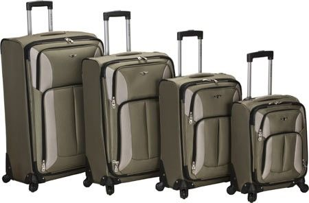 c685690d0911 Rockland Impact 4-Piece Spinner Set, Green   Products   Luggage sets ...