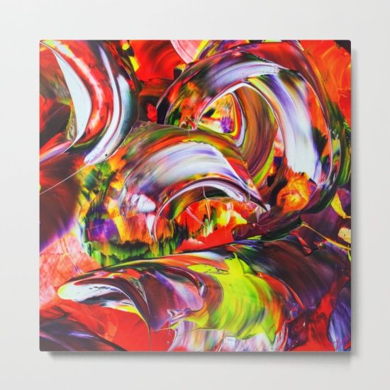 Our Metal Prints Are Thin Lightweight And Durable 1 16 Aluminum Sheet Canvas The High Gloss Finish Enhances Abstract Abstract Acrylic Wall Art Canvas Prints