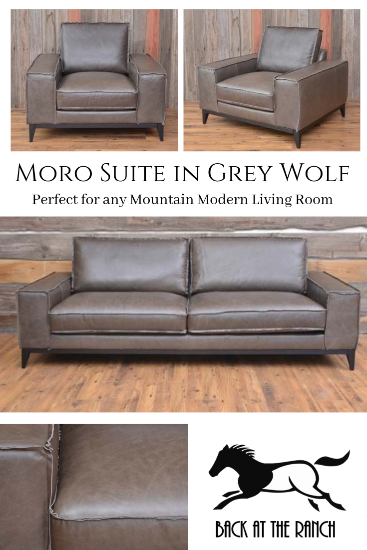 Grey Leather Sofa Chair Livingroomfurniture Furniture Suite Urbanrustic Mountainmodern Leather Living Room Furniture Blue Living Room Decor Table Decor Living Room