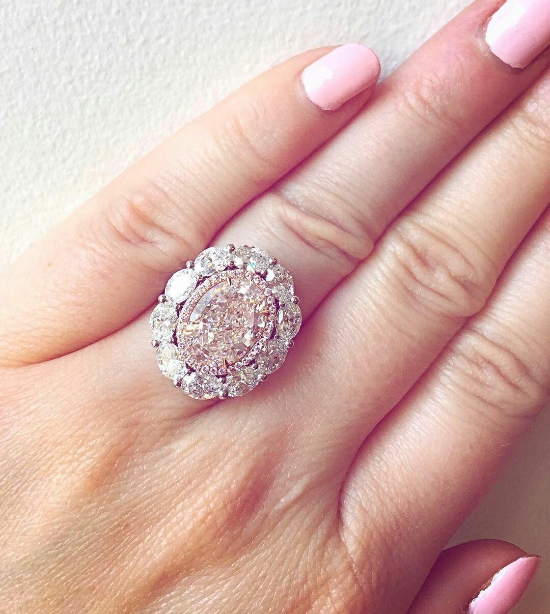 Pink Diamond Ring | All That Glitters | Pinterest | Pink diamond ...