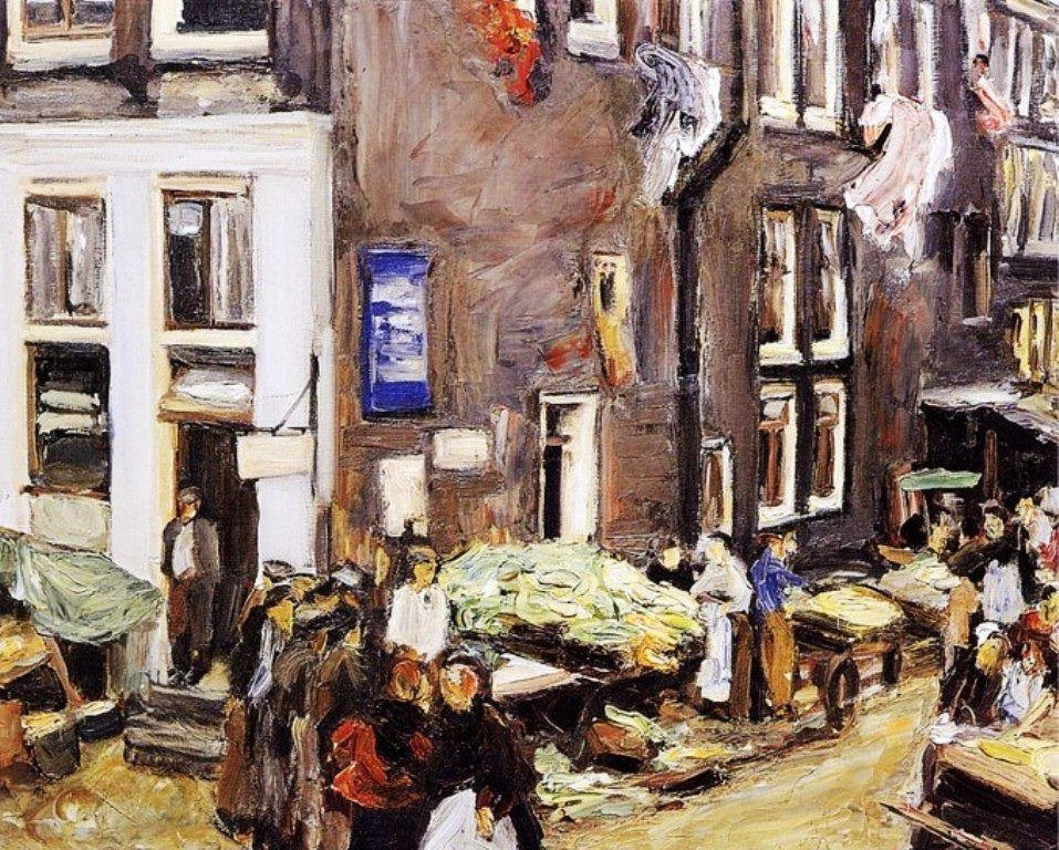 Jewish Quarter In Amsterdam, 1905. Oil On