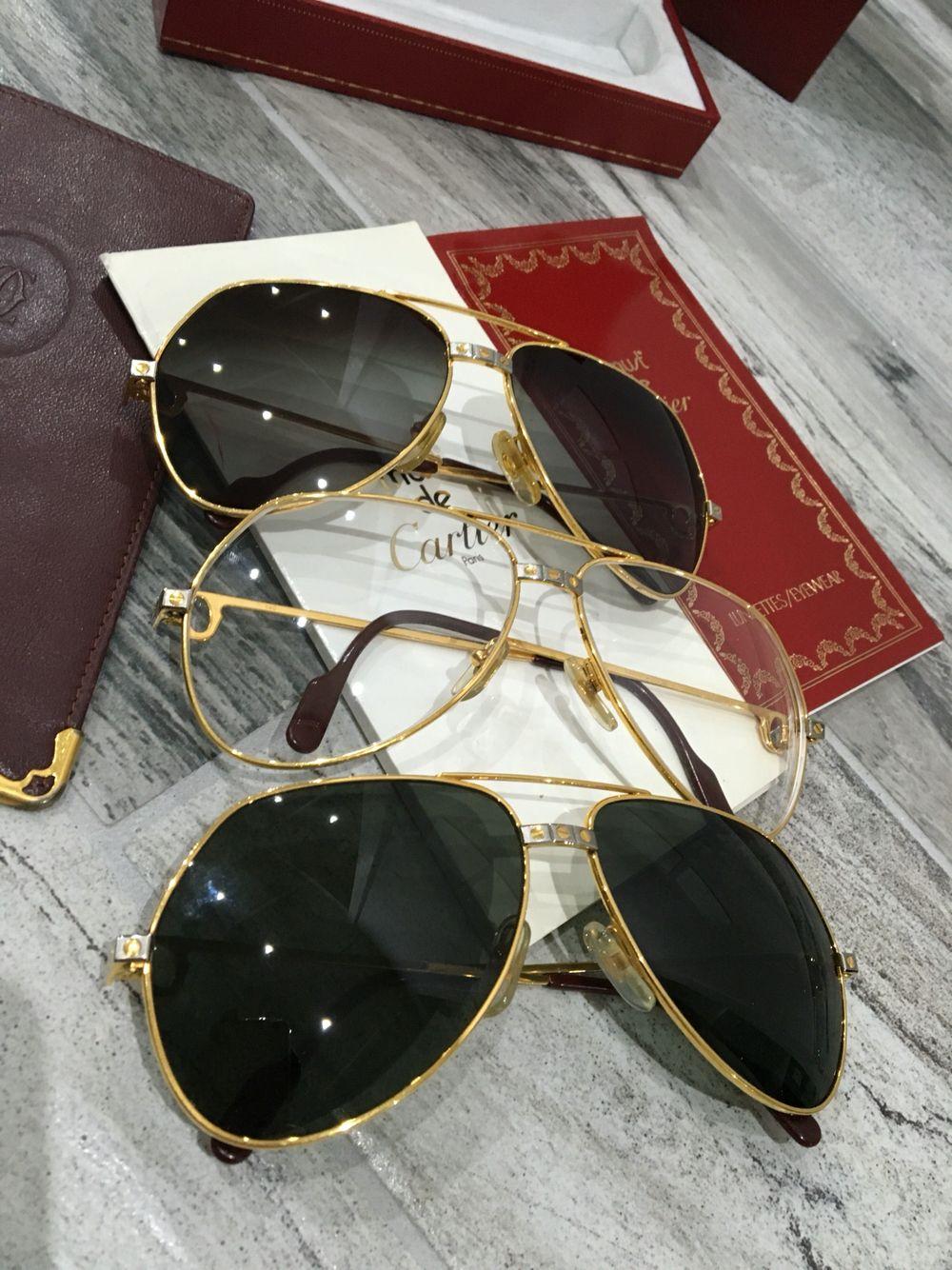e6cc55b1907d5a Must de Cartier Santos Vendome occhiali taglie 59-14 e 62 14 corredo  completo