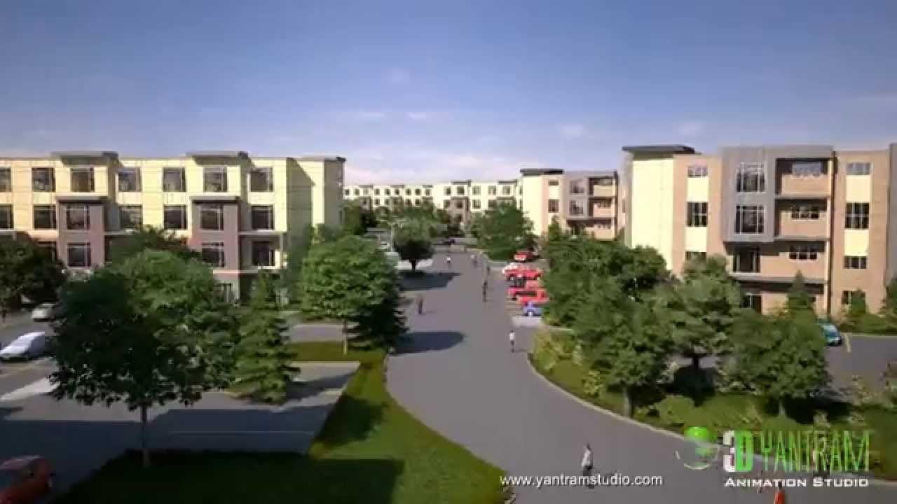 3D Flythrough Animation for Community Center Building Design
