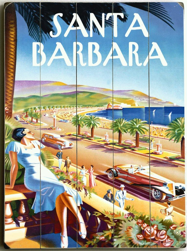 Santa barbara beach resort sign beach house decor for Santa barbara vacation ideas