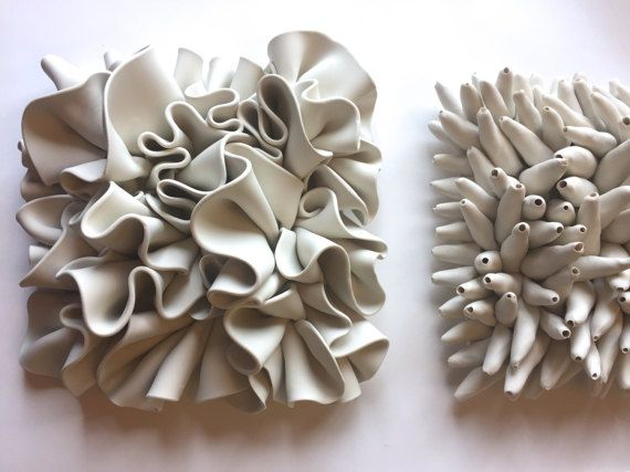 Flow Clay Large Sculpture Tile Wall decor | Flow, Clay and Walls