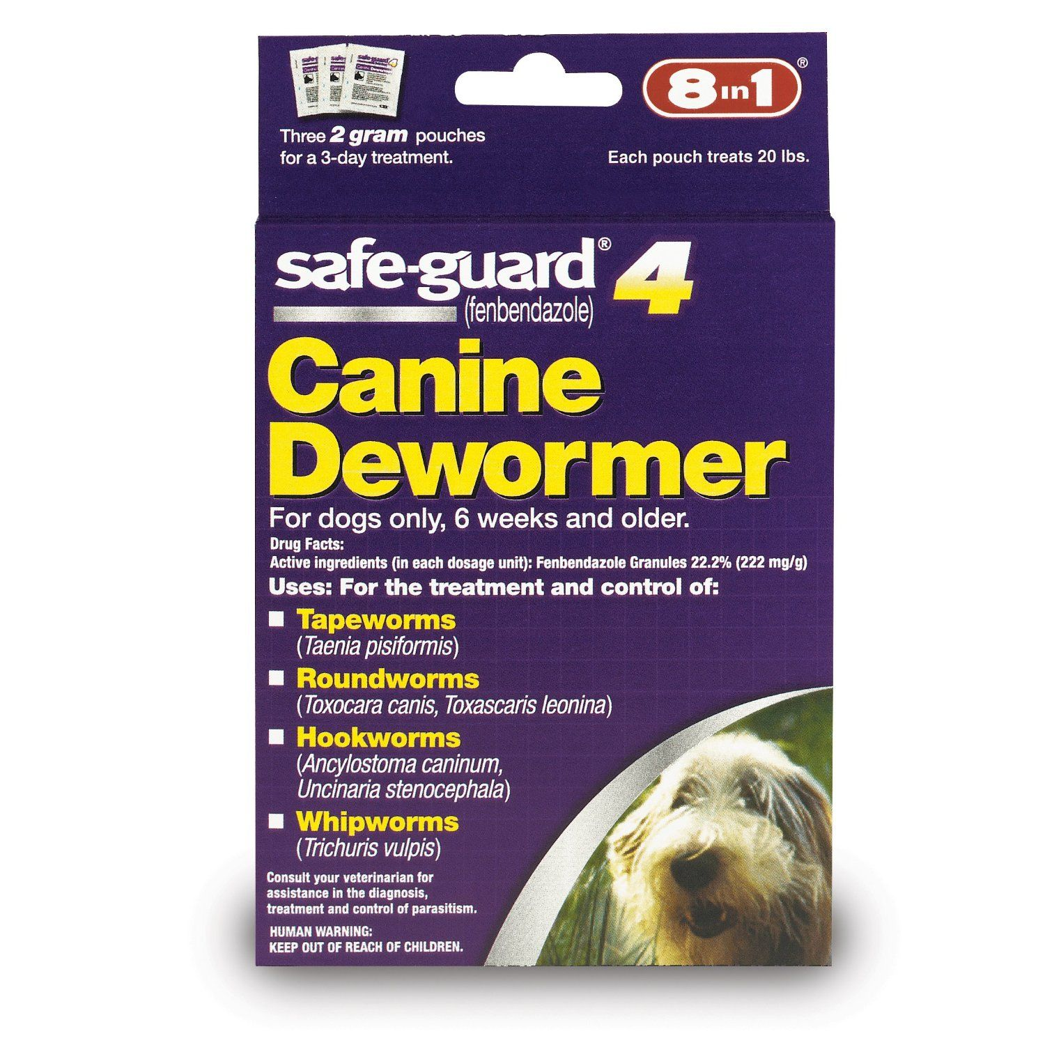 Amazon Com Safe Guard Canine Dewormer For Large Dogs 4 Gram Pet Wormers Pet Supplies Deworming Dogs Pet Meds Dog Treatment